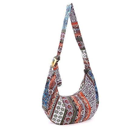 3e19a525314b Amazon.com  BESTOYARD Thai Hobo Crossbody Bag Shoulder Bag Messenger Bag  Hippie Boho Bohemian Purse  Home   Kitchen