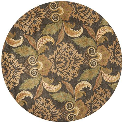 Safavieh Metro Collection MET985B Handmade Multicolored Wool Round Area Rug (8' Diameter) ()
