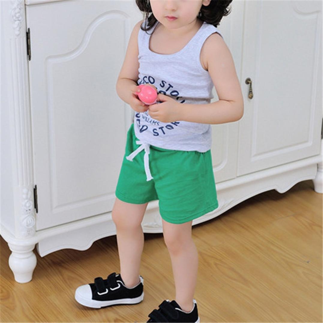 Sixcup Casual Summer Cotton Unisex Girls Boys Print Drawstring Hot Pants Runner Holiday Shorts Age 2-6 Years