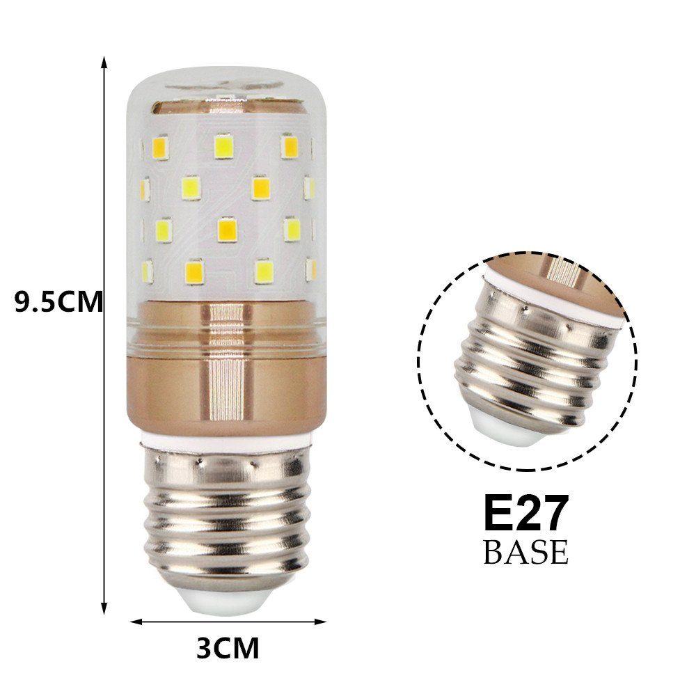 E27 LED Bullbs, Hight Bright 12W Daylight White LED Light Bulb 1000lm, 6W Warm White/Cool White E26 LED Corn Bulb, 100W Incandescent Equivalent, ...
