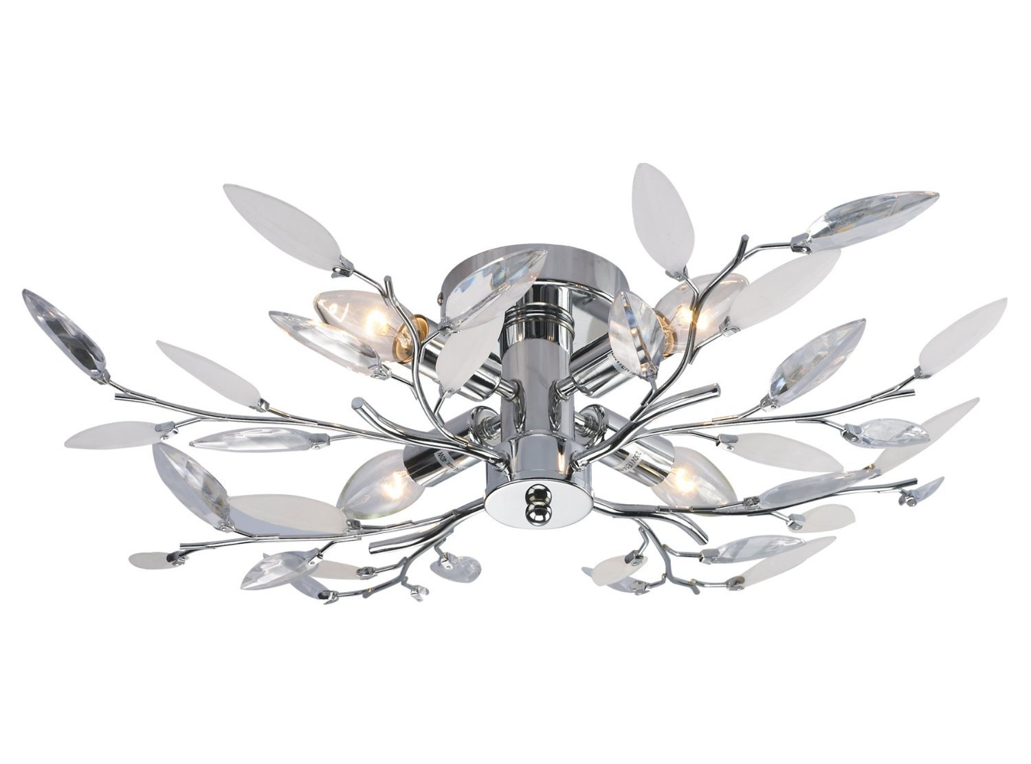 Willow 4 light semi flush chrome ceiling light amazon lighting aloadofball Choice Image