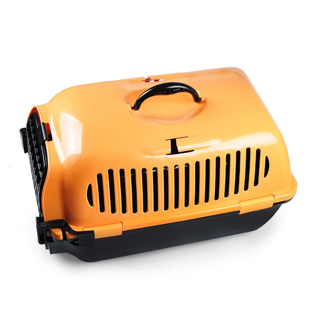 xueyan Jaula para mascotas caja de transporte de mascotas caja de transporte de gato perro caja de mascotas para mascotas pequeño jaula de perro, orange, american large box