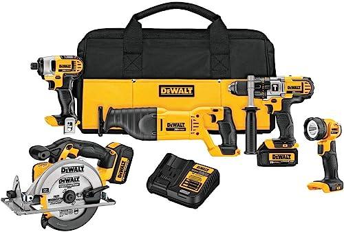 DEWALT 20V Max Cordless Drill Combo Kit, 5-Tool DCK590L2