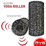 Raise Your Game RYG 4-Speed Vibrating Electric Muscle Foam Roller, Thick Firm High Density Trigger Point Massager Kit for Myofascial Release Physical Therapy
