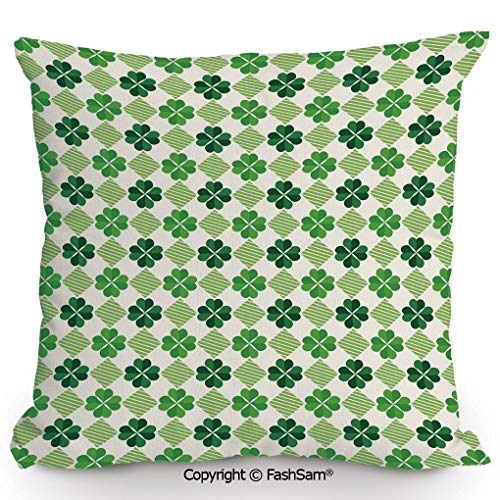 FashSam Polyester Throw Pillow Cushion Traditional Flowers Modern Design Low Poly Effects Symmetry Geometrical Decorative for Sofa Bedroom Car Decorate(14
