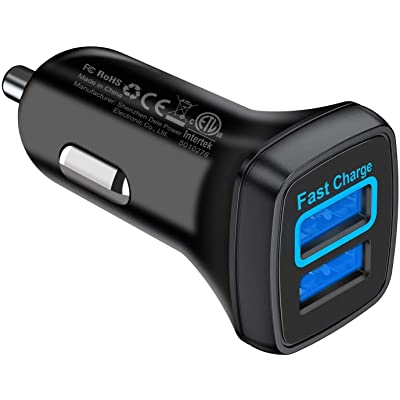VANMASS Quick Charge 3.0 Car Charger, 30W Car Phone Charger Adapter Dual USB Port, Fast Charging 12V Car Cigarette Lighter Compatible with iPhone 11 Pro MAX Xs XR X 8, Samsung S10 S9 Note 10 9, Tablet: Home Audio & Theater