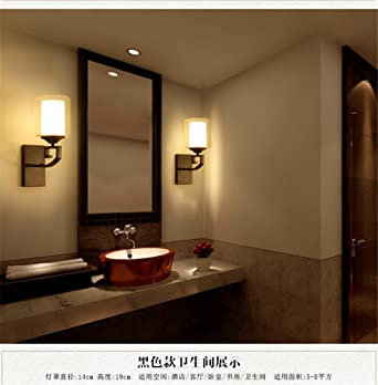 YU-K Einfache Vintage Schlafzimmer Wand Lampe kreative Wohnzimmer ...