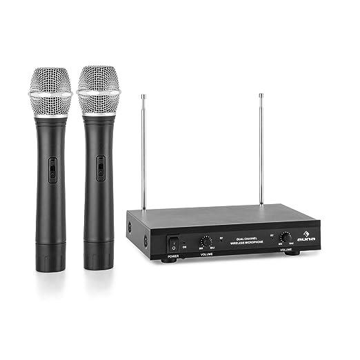24 opinioni per auna VHF-2-H 2 x Radiomicrofoni Wireless VHF Con Ricevitore (2 Canali, Copertura