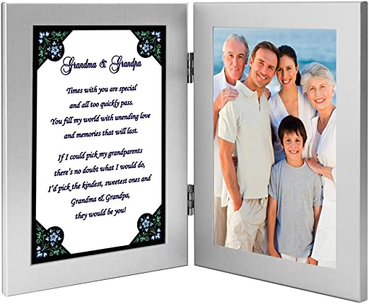 Add Photo Gift for Nana Sweet Poem for Grandmother from Grandchildren Twins