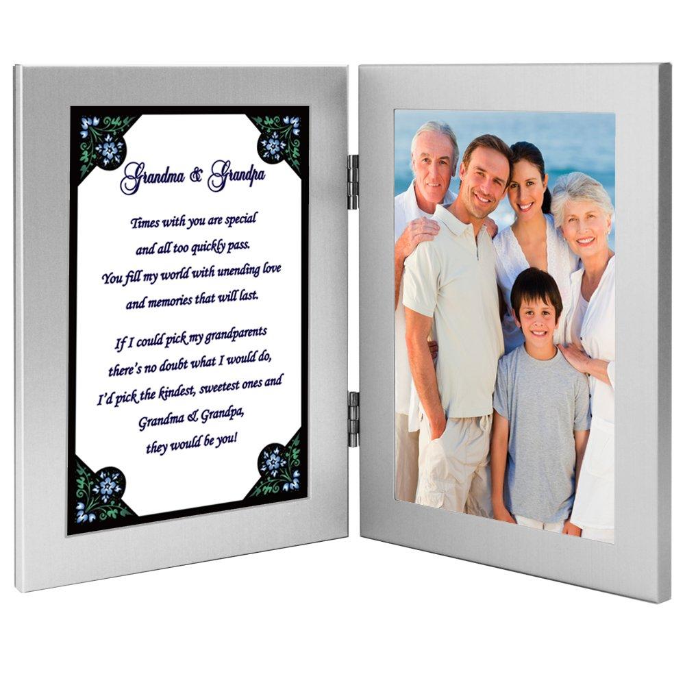 Gift for Grandma and Grandpa - Cute Poem in Double Frame - Add Photo