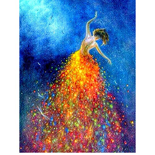 DIY 5D Diamond Painting Kits For Kids & Adults, Betionol Painting Cross Stitch Full Drill Crystal Rhinestone Painting By Number Kits, Girl Dancing with Stars, 9.8 x 13.7 inch