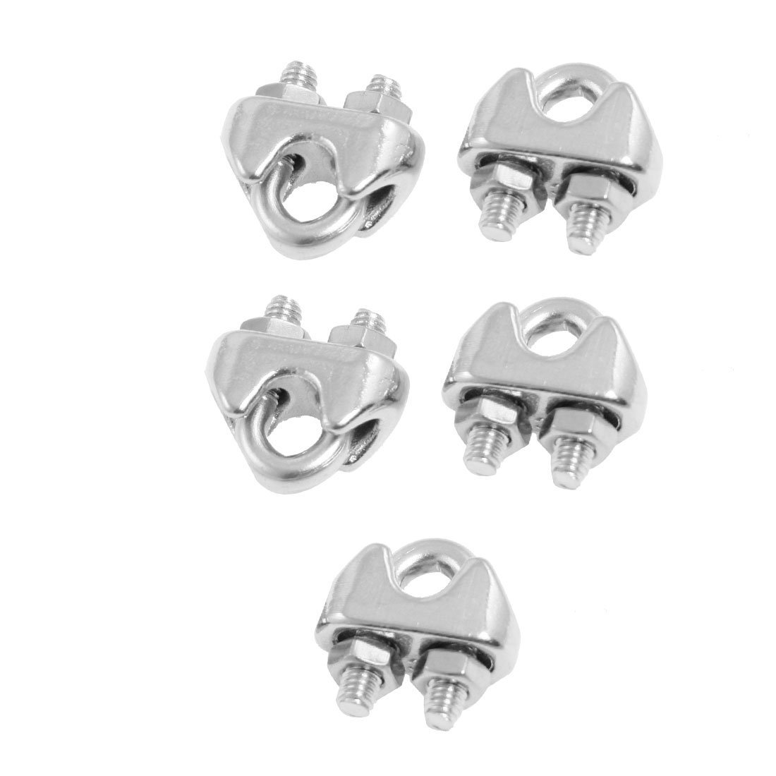 5 Pcs 304 Stainless Steel Saddle Clamp Cable Clip for 3/25\