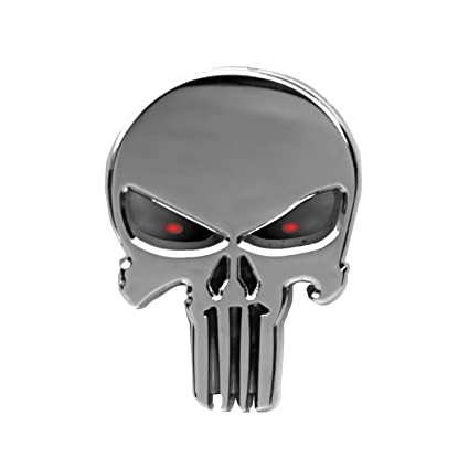wall chris k punisher american sniper chrome look car window decal