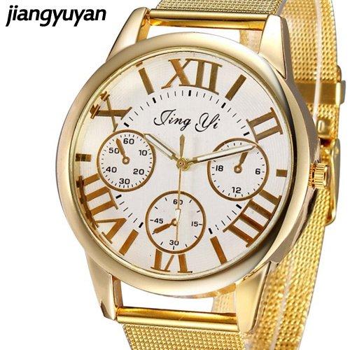 De la mujer con cinco tipos de relojes de moda de los relojes de cuarzo banda