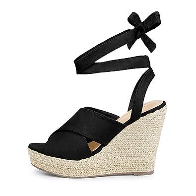 645cded8bf6 Amazon.com | Ruanyu Womens Platform Espadrille Wedge Sandals Peep ...