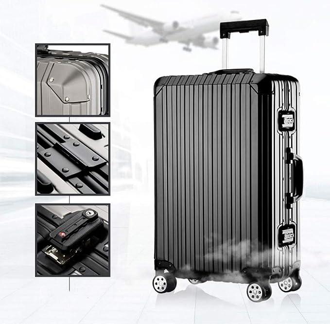 Trolley Case, maleta de equipaje, maleta de aluminio, caja de contraseña (Color : Red, Tamaño : 24inch): Amazon.es: Equipaje