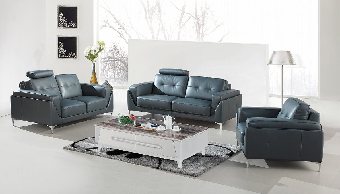 Amazon.com: Divani Casa Markham Modern Grey Bonded Leather ...