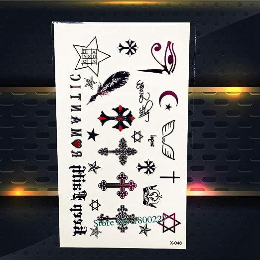 Yyoutop 1 UNID Palabras Negras Pegatinas de Tatuaje Letra árabe ...