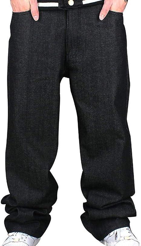 Pantalones Vaqueros De Los Hombres Jeans Ssig Hip Hop Moda Ropa Algodón Suelta: Amazon.es: Ropa y accesorios