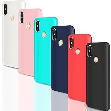 Leathlux [6 Packs Funda para Xiaomi Redmi Note 5, 6 Unidades Carcasas Juntas Ultra Fina Silicona TPU Colores Case para Xiaomi Redmi Note 5-5.99