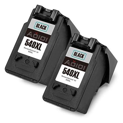 Aoioi Remanufactured Canon PG-540XL Cartuchos de tinta (2 Negro) Compatiable con Canon PIXMA MG3650 MG4250 MG3250 MX535 MG3550 MX475 MG4200 MG3500 ...