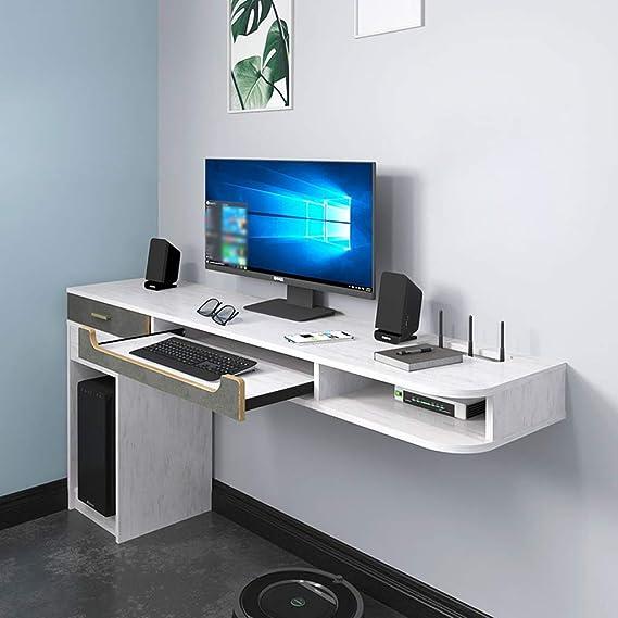 AFEO Escritorio de la computadora gabinete de TV Estante de la Pared Estante Flotante Mesa de Libros Soportes de TV Set-Top Box enrutador CD DVDs Teclado Gabinete de Almacenamiento Consola de TV: