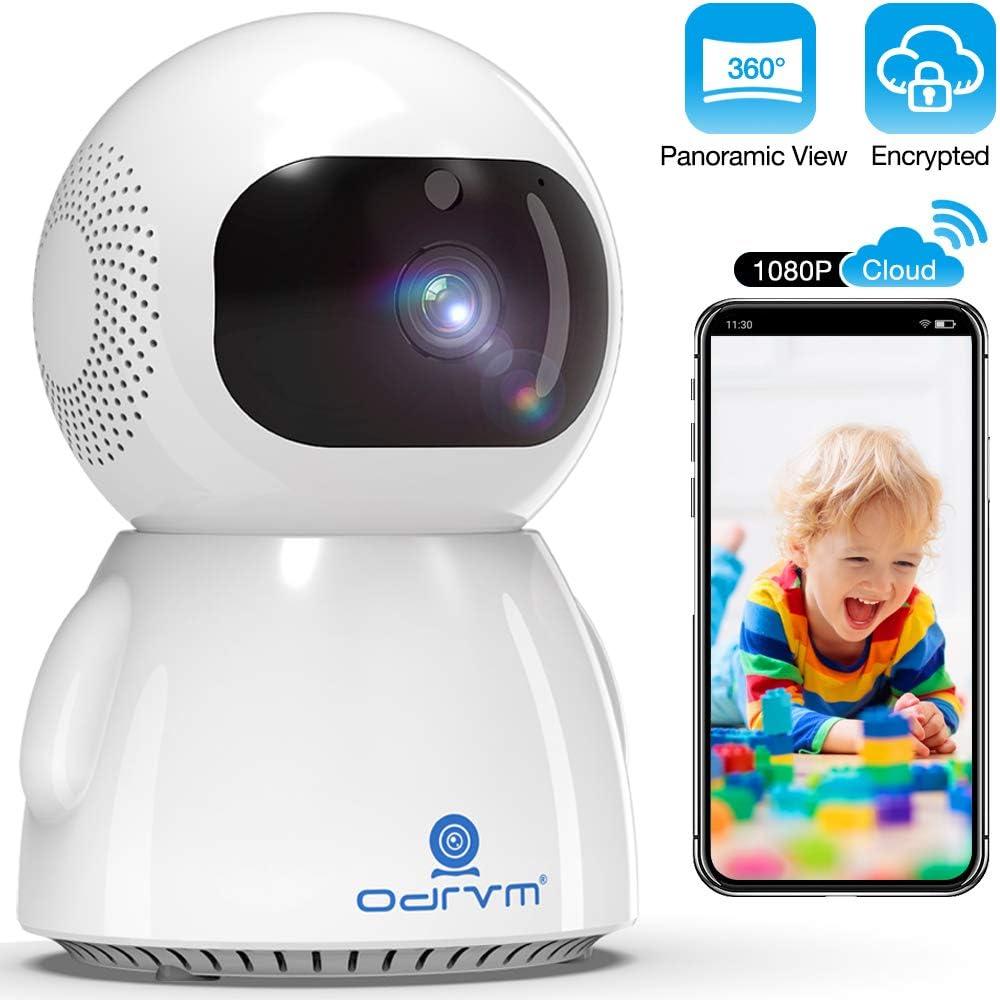 Cámara IP WiFi 1080P,Cloud Cámara de vigilancia Doméstica Inalámbrica,Monitor de Bebé con PTZ Cámara para Mascotas con Audio Bidireccional,Seguimiento Automático,Visión Nocturna Mejorada