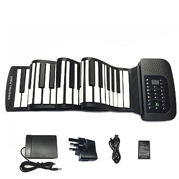 Roll up piano portátil 88 tecla suave elástico música electrónica ...