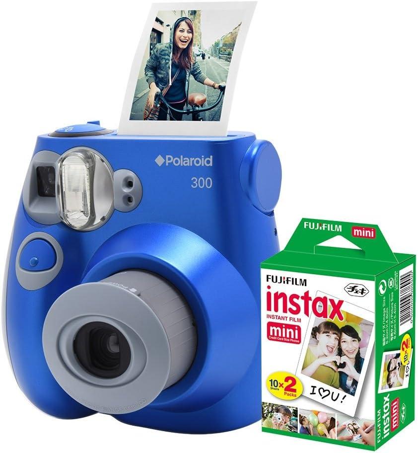 Câmera Polaroid instantânea PIC 300 c/filme 20 poses