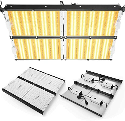 Carambola 4000W LED Grow Light 5×5 ft Sunlike Full Spectrum IR Commercial Grow Lights for Indoor Hydroponic Plants Veg Bloom 1152pcs LEDs Waterproof Hightest Efficiency