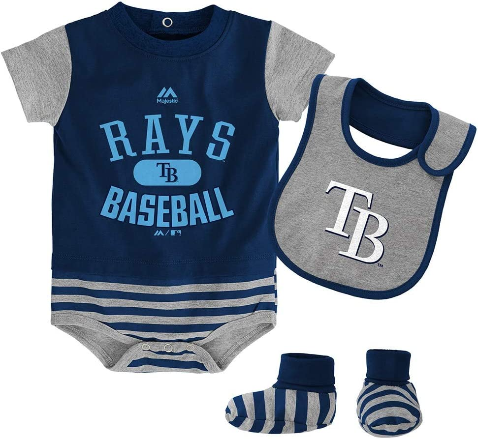 OuterStuff MLB Tampa Bay Rays Newborn /& Infants Love Baseball Creeper