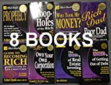 img - for Rich Dad Poor Dad 8 Book Set: Guide to Becoming Rich /Who Took My Money /Loop-holes of the Rich / Prophecy/ Own Your Won Corporation / the ABC of Real Estate Investing /The ABC of Getting Out of Debt / Rich Dad Poor Dad book / textbook / text book