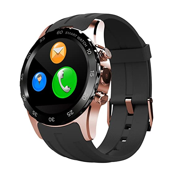 Amazon.com: FENGSHI Smartwatch Waterproof with Magnetic Wireless Support SIM Card NFC Charging IPS Round Touch Gesture Control Wrist Watch Heart Rate ...