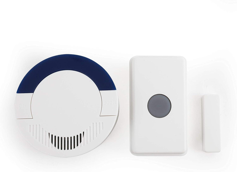 Dakota Alert UTDCR-4000 Long-Range Wireless Doorbell and Home Security Driveway Alarm System - DCR-4000 Receiver and UT-4000 Universal Transmitter