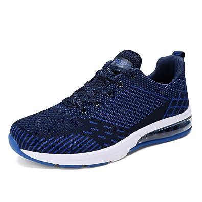 Chaussures de Running Basket Sport Compétition Entraînement Homme Sneakers Noir 39-44 TseV2gqR29