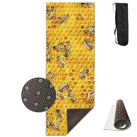 HiExotic Estera Yoga Mat Eco-Friendly Anti Slip Honey Bees ...