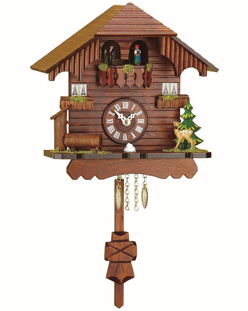 Trenkle Black Forest Clock Black Forest House, turning dancers