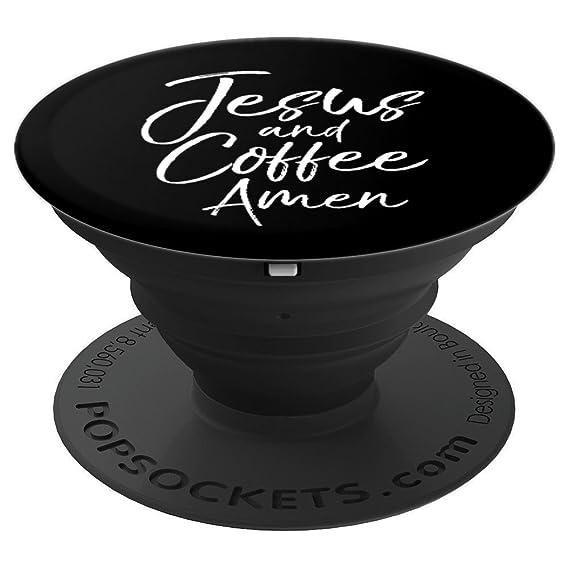 Amazon.com: Jesus and Coffee Amen PopSocket Grip Cute ...