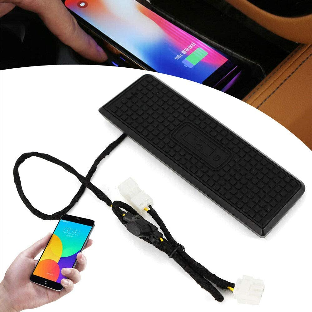 Wireless Charger 2-in-1 Qi Wireless Charging Stand Charger Black Car Center Console Armrest Organizer Storage Box Holder Container Glove Pallet Tray for BMW 3 4Series F30//F31//F34//F32//F36 2013-2018