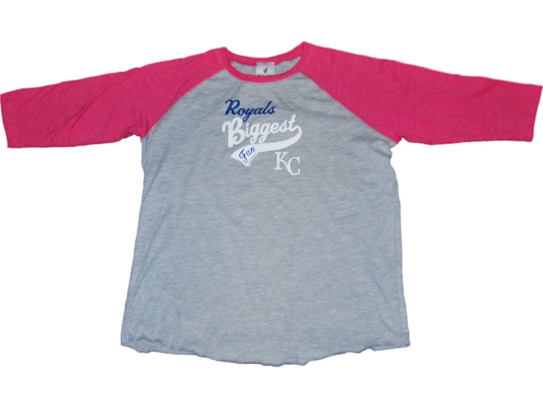 【良好品】 Kansas B00W4AE5DW City Royals/ Saag Youthガールズグレーピンク3 Saag/ 4スリーブベースボールTシャツ X-Large B00W4AE5DW, PEACE.CLOTHING:6fc032c5 --- a0267596.xsph.ru