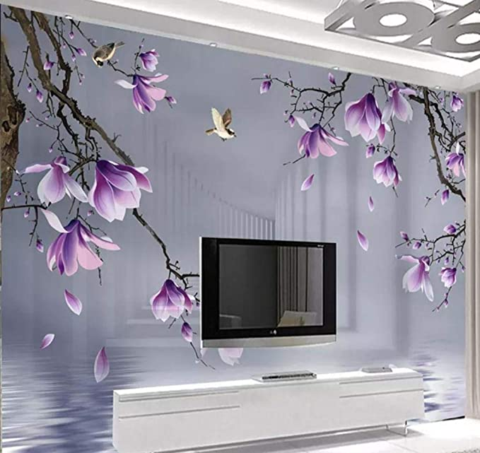 Papel tapiz fotográfico Moderno 3D Magnolia Bird Flowers Murales ...