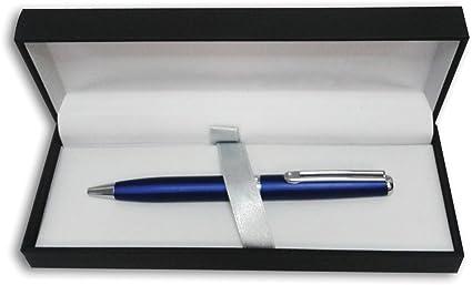 Estuche con Bolígrafo Inoxcrom Wall Street Titanium Azul con cuerpo de acero inoxidable: Amazon.es: Oficina y papelería