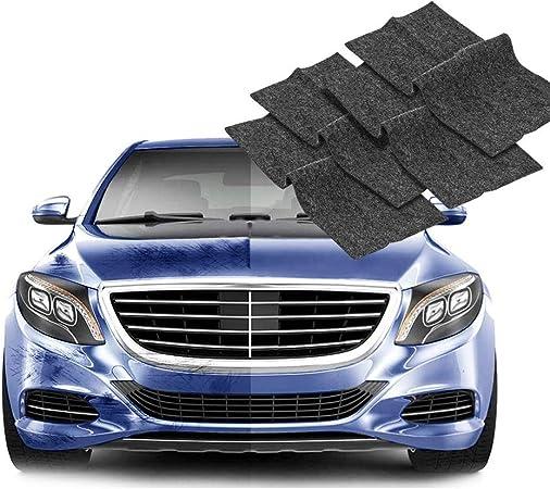 Amplelife Nano Magic Cloth Für Autokratzer 4pcs Nano Cloth Scratch Remover Mit Reparaturflüssigkeit Nanotechnologie Einfache Reparatur Von Lackkratzern Und Wasserflecken Auto