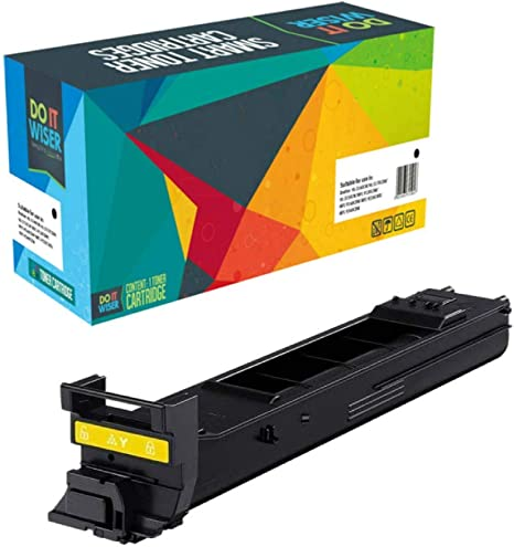 Yellow Works with: Bizhub C20 On-Site Laser Compatible Toner Replacement for Konica-Minolta A0DK233 C20P C20X