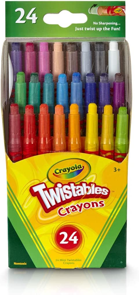 B00062J99K Crayola Twistables Crayons Coloring Set, Kids Indoor Activities at Home, 24 Count 61d-BO4sARL