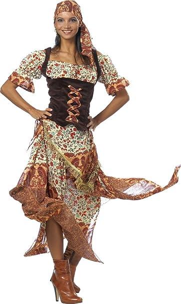 Vestido de gitana, disfraz para carnaval: Amazon.es: Ropa y ...