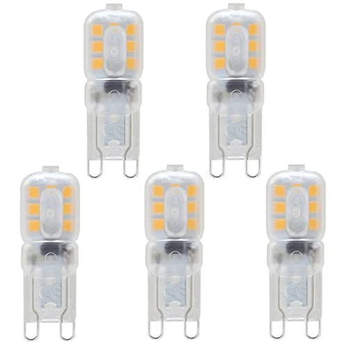 KINDEEP G9 3W LED Lampe, Warmweiß 3000K, G9 LED Leuchtmittel Nicht Dimmbar,  Ersatz