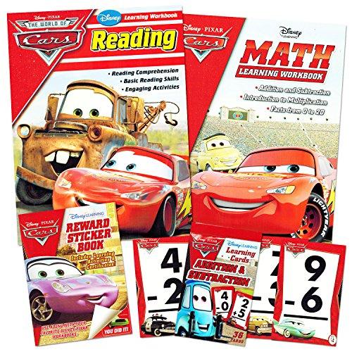Cars Workbook (Disney Cars Learning Set Kids -- Reading Workbook, Math Workbook, Addition/Subtraction Flashcards, Reward Stickers)