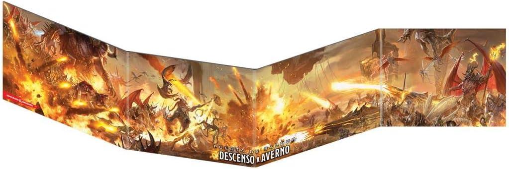 Edge Entertaiment España- D&D - Pantalla del Dungeon Master Descenso a Averno - Juego de rol, Color (Dungeons & Dragons EEWCDD12A)