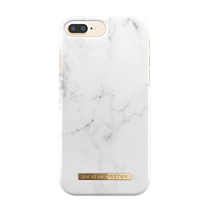 brand new 4d7a9 0a8b6 iDeal Of Sweden White Marble Cell Phone Case for iPhone 8/7/6/6s Plus